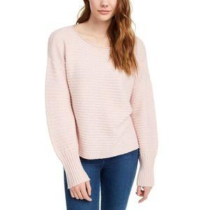 Jasmine Pink Ribbed Sweater Large